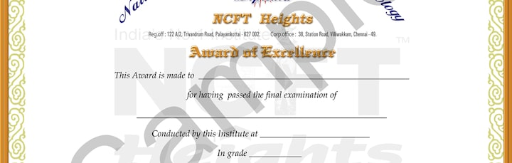 ncft heights institute models for diploma certificate