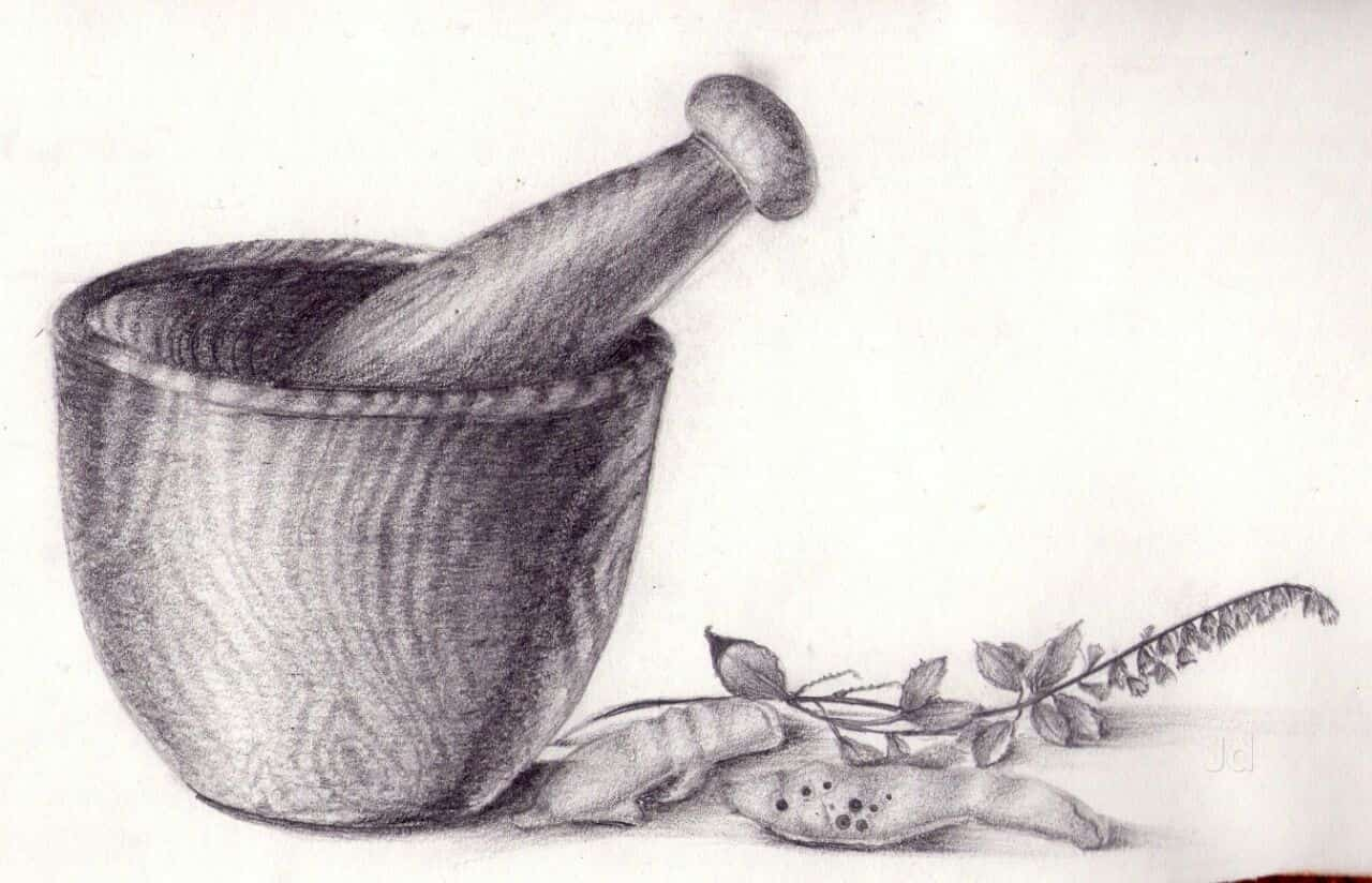 Kalarang Drawing Academy, Savedi - Elimentary Drawing Classes in ... for Mortar And Pestle Drawing  197uhy