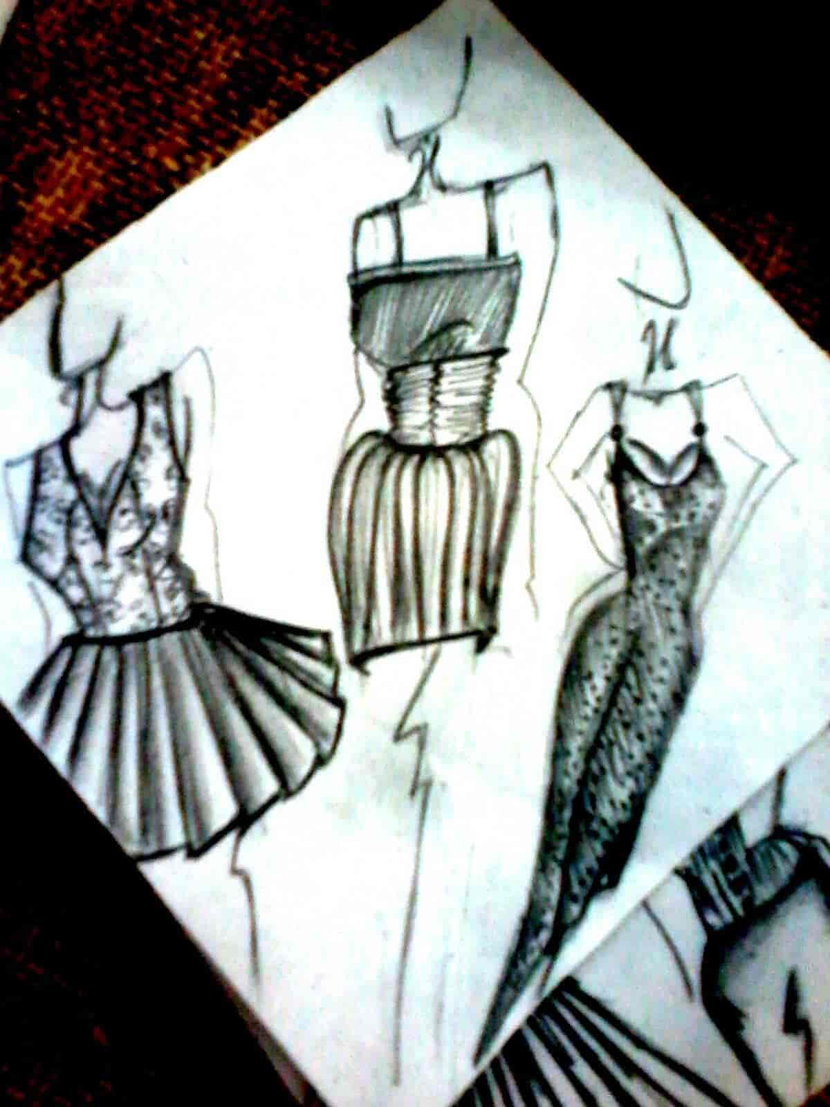 Pencil sketch raaga fashion school photos wilson garden bangalore fashion designing institutes