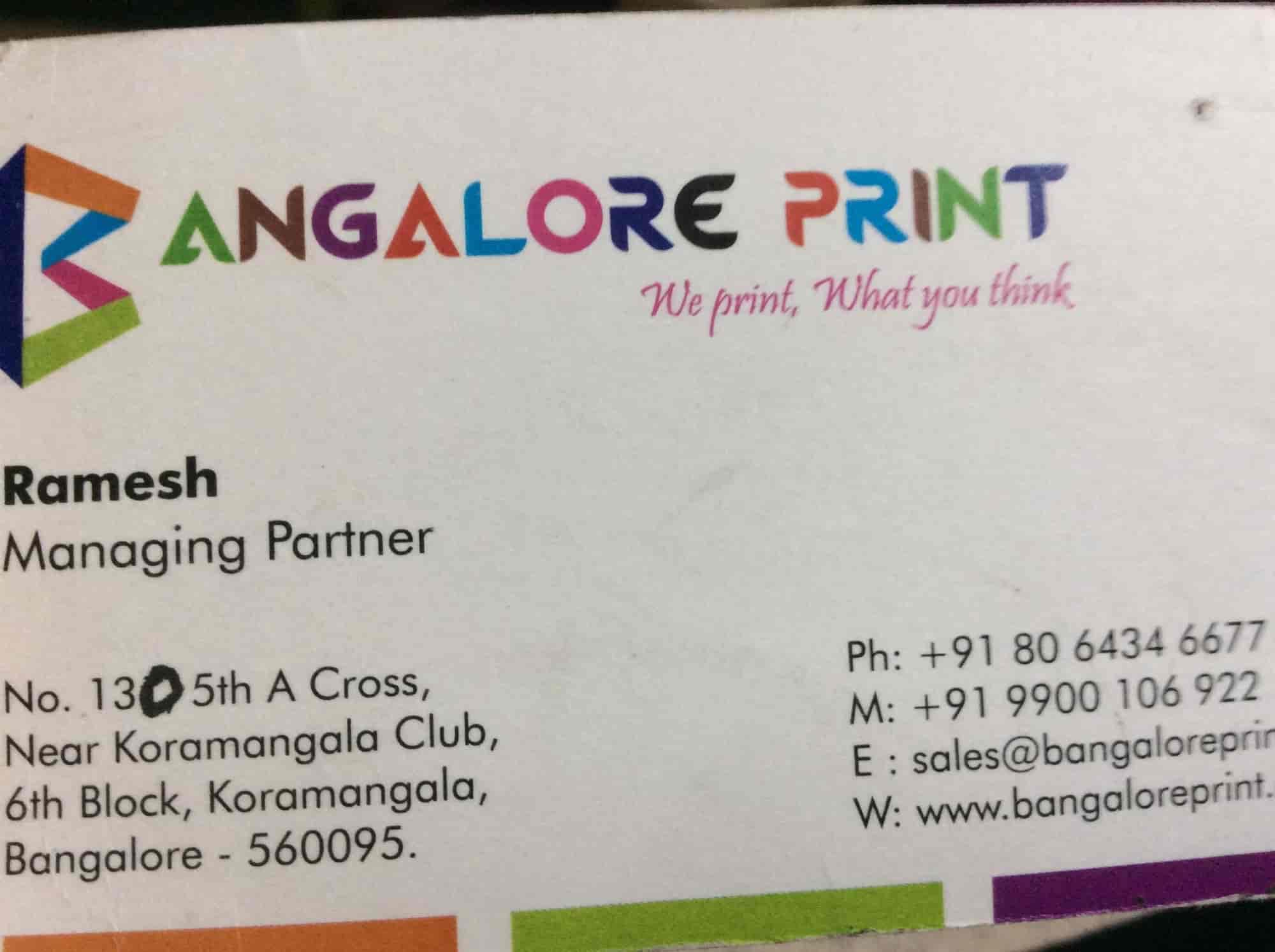 wedding card printers in bangalore indiranagar%0A Bangalore Print  Koramangala  th Block  Printing Press in Bangalore   Justdial