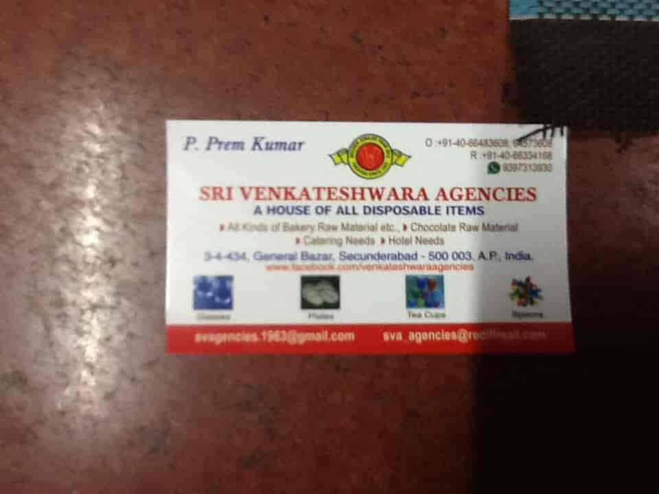 wedding cards in hyderabad general bazar%0A Sri Venkateshwara Agencies  General Bazar  Shri Venkateshwara Agencies   Food Product Retailers in Hyderabad  Justdial
