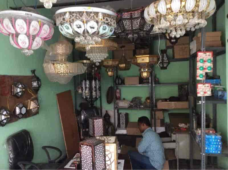 craft metal lighting. Inside View Of Decorative Lights Shop - Beacon Metal Craft And Crystal Lighting Photos, Saroor