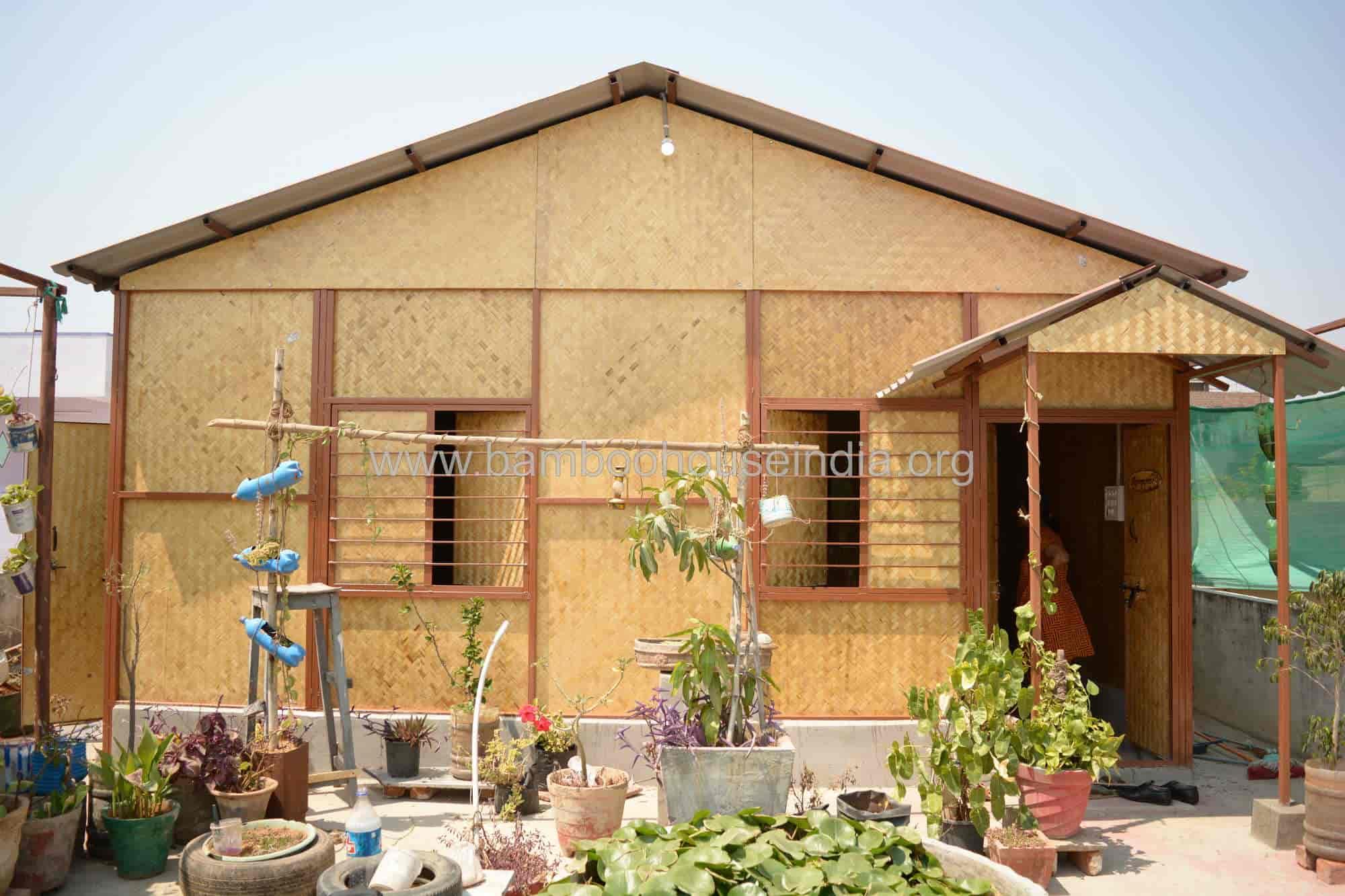 Bamboo House India Uppal Bamboo Hut Construction
