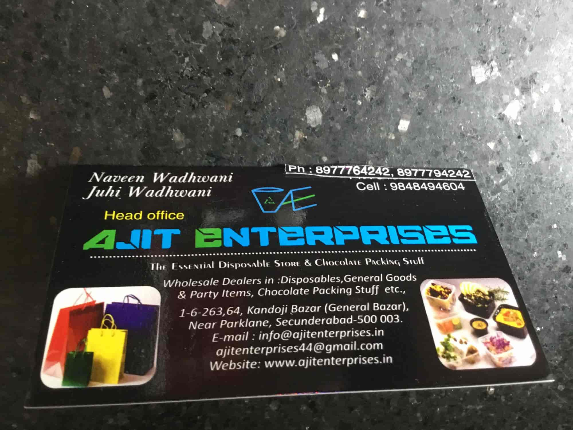 wedding cards in hyderabad general bazar%0A Ajit Enterprises  Secunderabad  Ajit Enterpries  Paper Product Dealers in  Hyderabad  Justdial