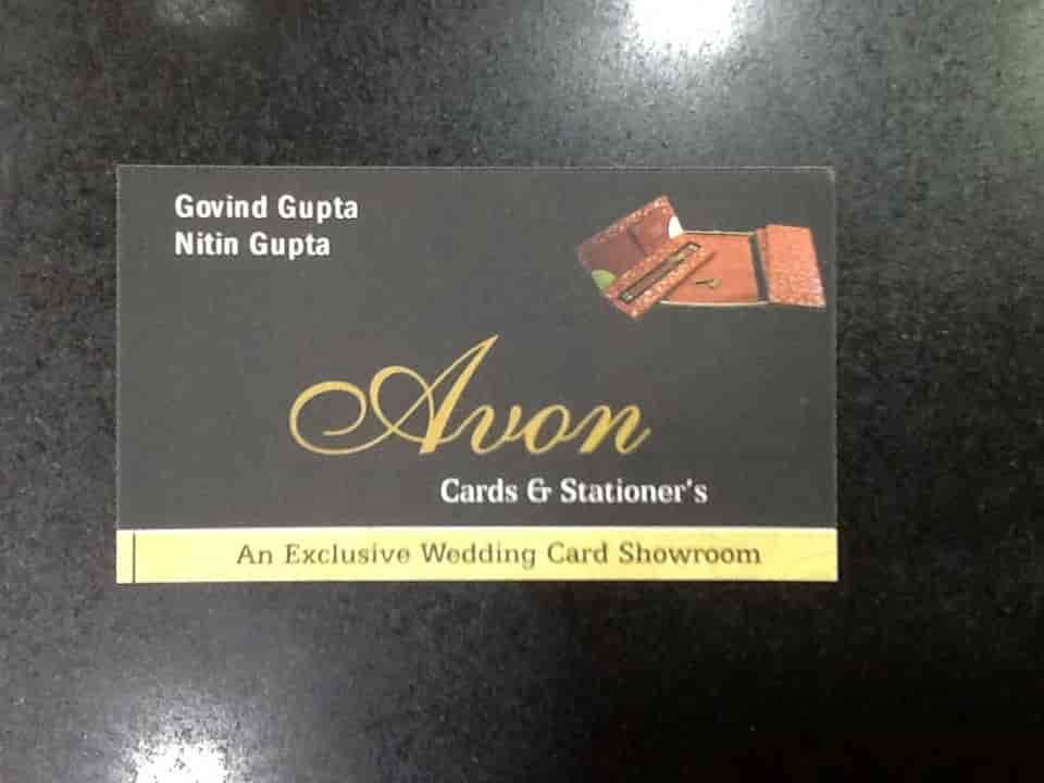 wedding cards in hyderabad general bazar%0A Avon Card  u     Stationers  Khajuri Bazar  Customised Invitation Card Dealers  in Indore  Justdial