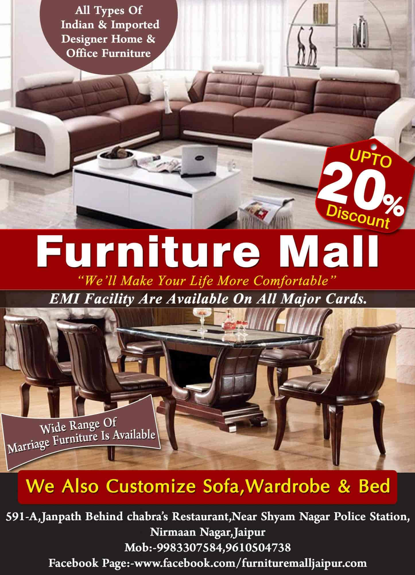 Furniture Mall Nirman Nagar Furniture Dealers in Jaipur Justdial