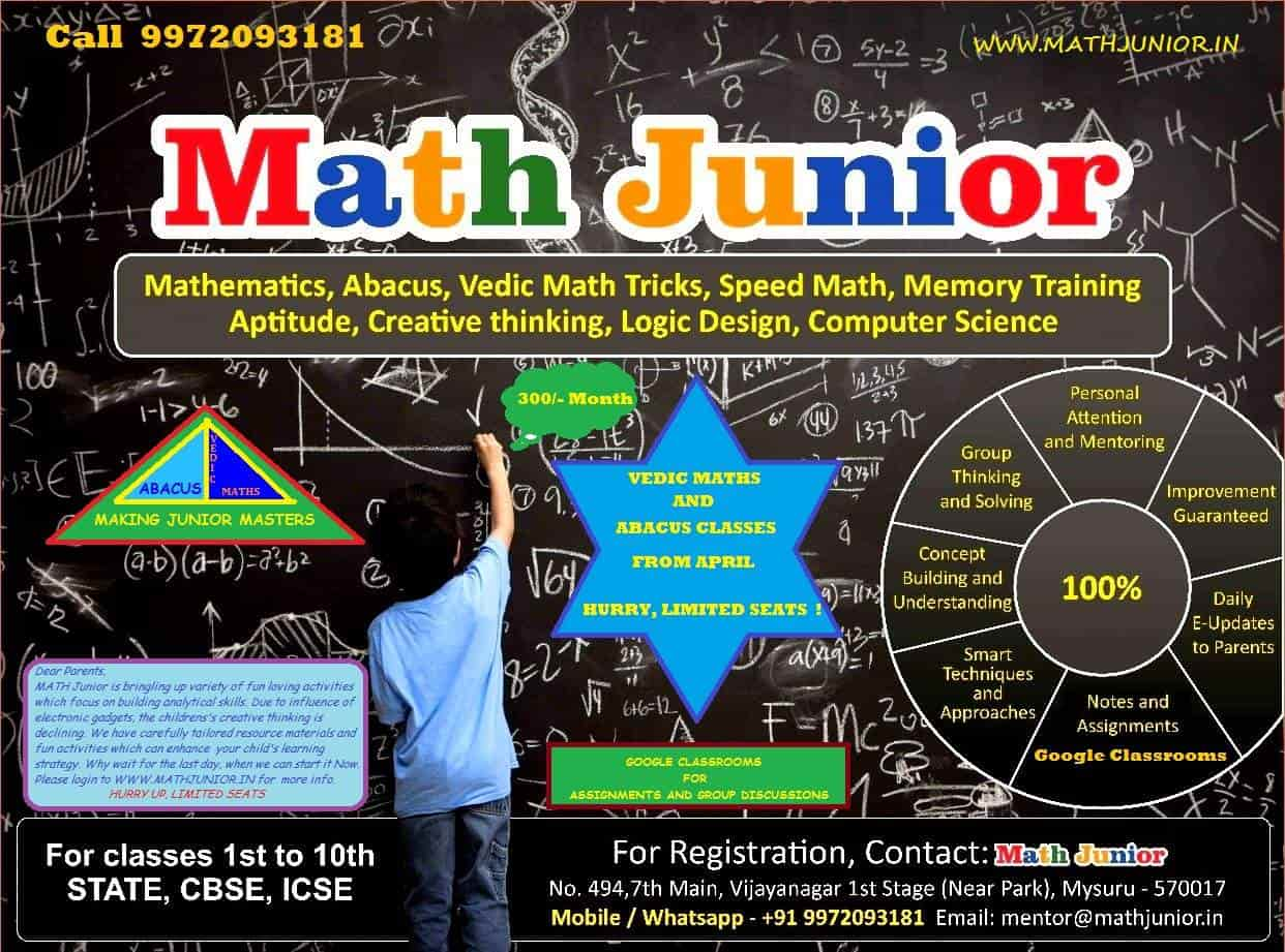 Top Maths Home Tutors for 10th Maths in Mysore - Best 1Oth