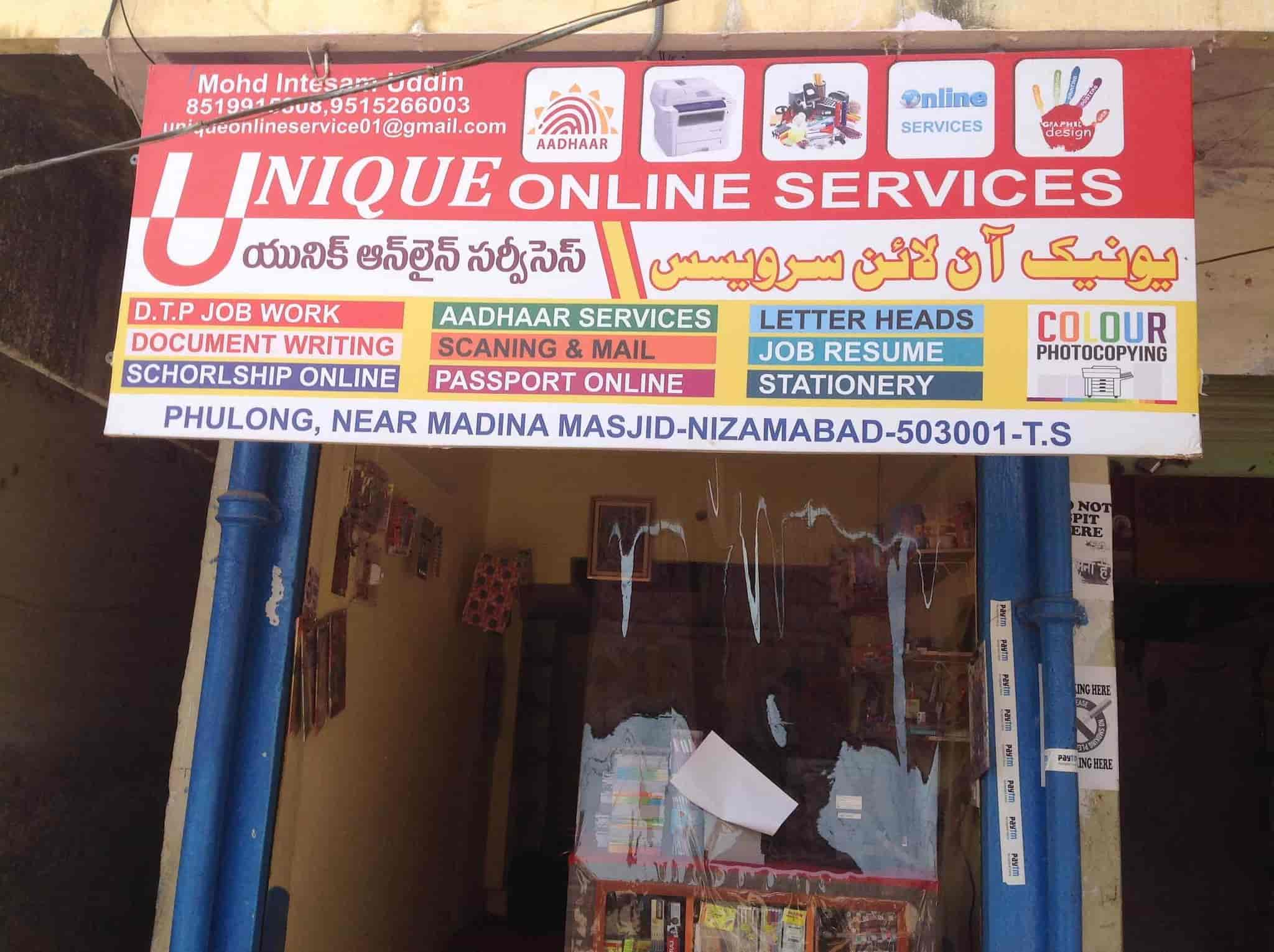 Unique Online Services Photos, Phulong, Nizamabad - Stationery Shops ...