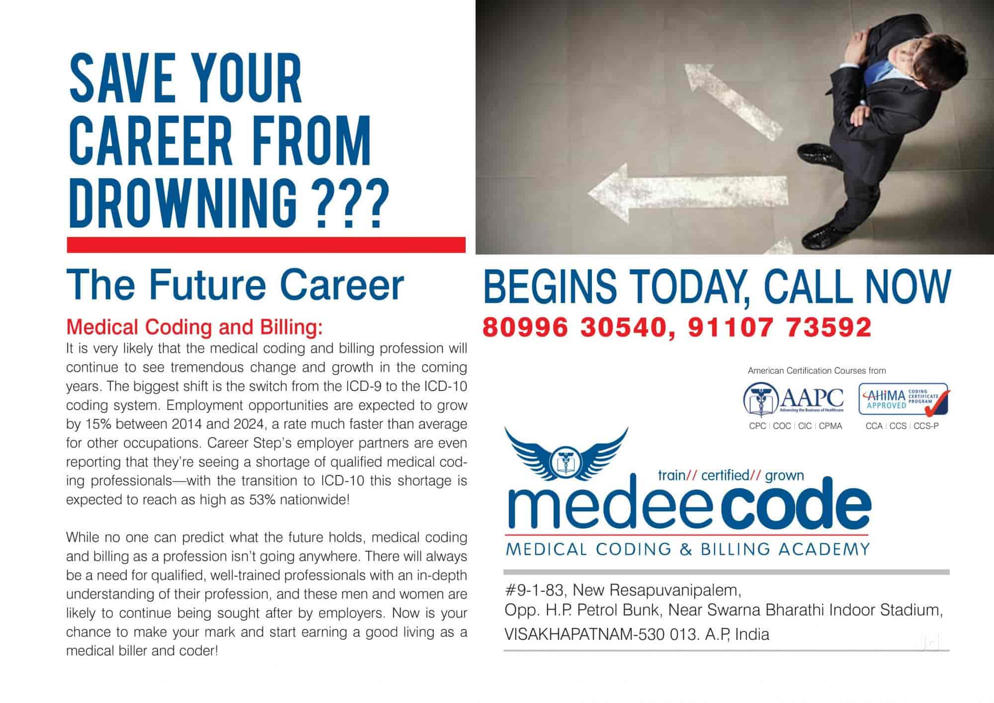 Medeecode medical coding billing academy maddilapalem medeecode medical coding billing academy maddilapalem institutes for medical coding billing in visakhapatnam justdial 1betcityfo Gallery