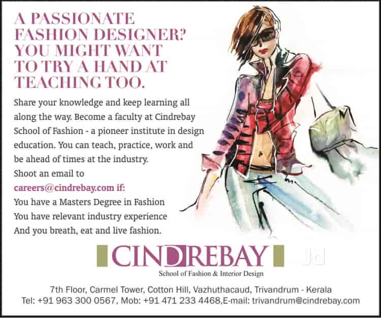 Cindrebay School Of Fashion Interior Design Kalpetta Wayanad