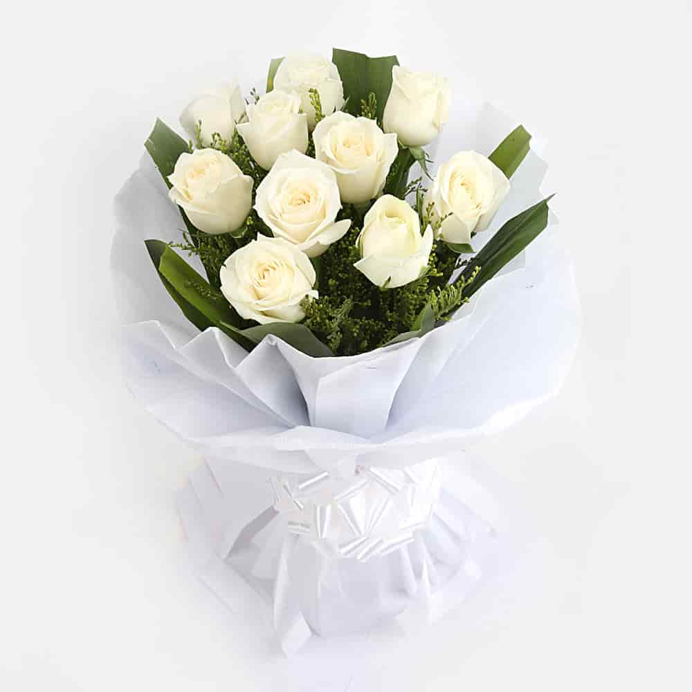 White Roses Bunch Online Order Flowers Online Home Delivery